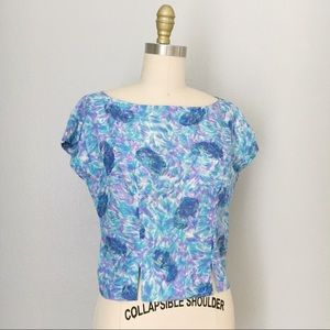 Vintage 50s cropped paisley blouse